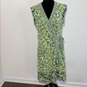 Safiya lemongrass wrap dress large coral BCBG